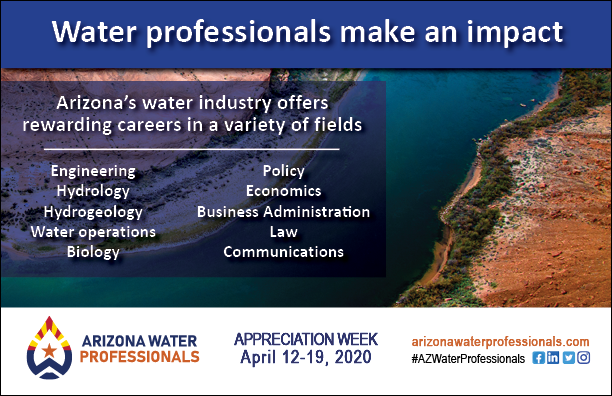 AZ water scenery with water professionals make an impact and career options listed
